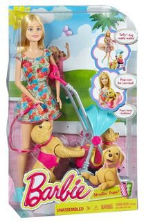 Mattel Barbie Hundespaziergang (CNB21)