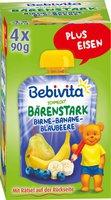 Bebivita Bärenstark Birne-Banane-Blaubeere (4x90g)