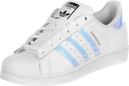 adidas superstar white metallic silber