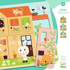Djeco 3 Schichten Puzzle Familie Hase