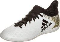 Adidas X 16.3 IN Jr white/core black/gold metallic