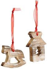 Villeroy & Boch Christmas Toys 2015 Haeng.Holz Pferd+Haus S2 9x8cm