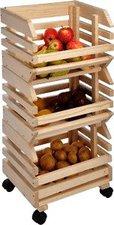 Haushalt International Kartoffelkiste Rollwagen 3-teiliger 80 cm