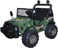 vidaXL Kinderauto Elektro Armeegrün