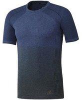 Adidas Primeknit Wool Dip-Dye T-Shirt mystery blue / utility grey