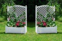 KHW Pflanzkasten mit Spalier BxH: 100 x 140 cm weiß - 2er Set