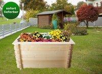 Gartenfreude Blockbohlen-Hochbeet 148 x 98 cm, Bohlenstärke: 44 mm