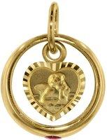 Trendor Gold-Taufring mit Amor (77998)