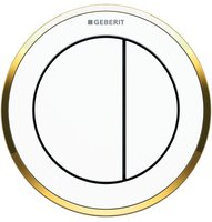 Geberit Fernbetätigung Typ 10 (116.055.KK.1) weiß / vergoldet