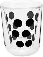 Zak Designs Dot Dot Doppelwand Glas 7,5 cl schwarz