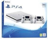 Sony PlayStation 4 (PS4) Slim 500GB glacier white + 2 Controller