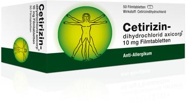 AxiCorp Cetirizindihydrochlorid 10 mg Filmtabletten (50 Stk.)