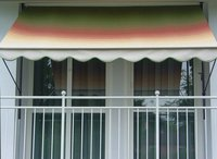 Angerer Klemm-Markise 150 x 150 cm grün-rot-gelb