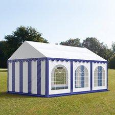 Profizelt24 Partyzelt 4x6m Premium blau-weiß