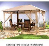 Grasekamp Antik-Pavillon 3x4m sand