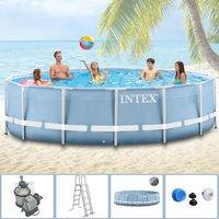 Intex Pools Steel Frame Pool 366 x 91 cm mit Sandfilter (289173)