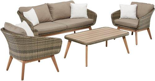 rattan gartenm bel set kaufen g nstig im preisvergleich. Black Bedroom Furniture Sets. Home Design Ideas