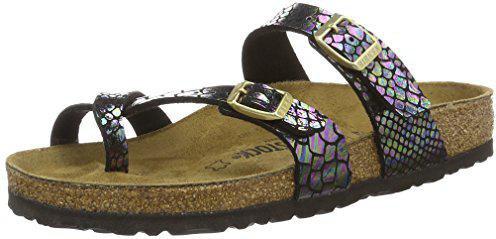 48da9390574f7a Birkenstock Mayari Birko-Flor shiny snake black multicolor günstig