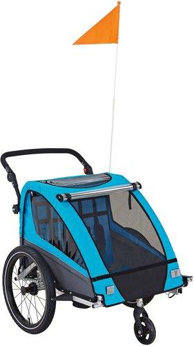 prophete kinder fahrradanh nger vollgefedert 20 blau. Black Bedroom Furniture Sets. Home Design Ideas