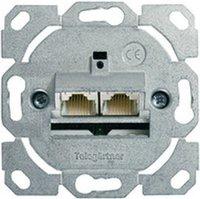 Telegärtner Patchdose UTP 2xRJ45 (ohne Zentralplatte)