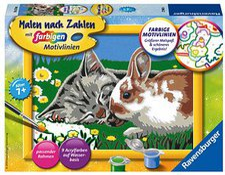Ravensburger Malen nach Zahlen Kätzchen und Häs...
