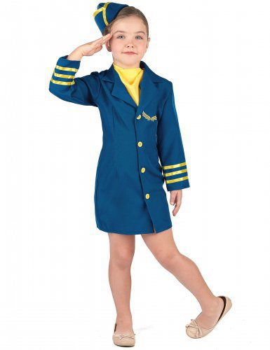 Stewardess Kinderkostüm