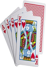 ASS Original Copag 100 Prozent Plastik Poker blau