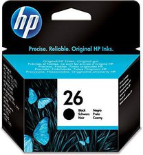 Hewlett Packard HP Nr. 26 Tintenpatrone, schwarz 51626AE