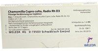 Weleda Chamomilla Cupro Culta Radix Rh D 3 Ampullen (8 x 1 ml)