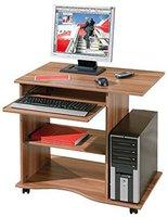 Walnuss Computertisch