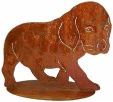 Gartenfigur Hunde-Welpe
