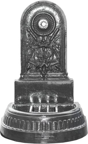 Nostalgie Deko Wandbrunnen Neptun Gusseisen Antik-Stil Braun