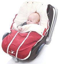 Wallaboo Fußsack für Babyschale rot