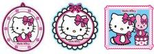 Decofun Hello Kitty Fashion Wanddekoration 3 Stück (23660)