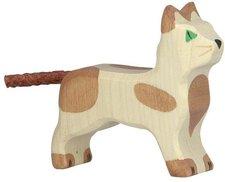 Holztiger Katze klein stehend