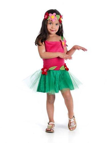Hula-Tänzerin Kinder Kostüm