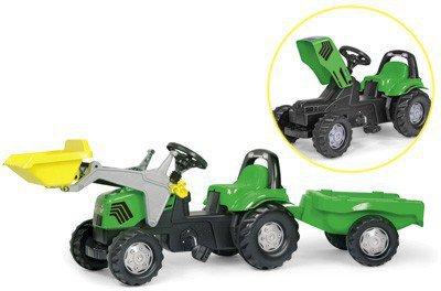 Rolly Toys RollyKid Deutz Fahr Agroplus 67 mit Lader und Anhänger