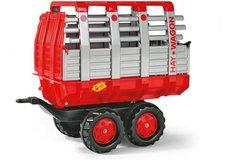 Rolly Toys rollyTrailer Heuwagen Tandemachser rot-silber