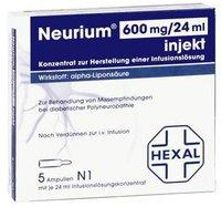Hexal Neurium 600 Injekt Amp. (5 Stück)