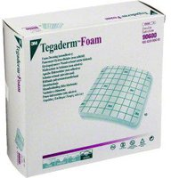 3M Medica Tegaderm Foam 5,1 x 5,1 cm Schaumverband nicht klebend (10 Stk.)