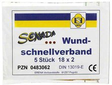 Erena Senada Wundschnell Verband 18 x 2 cm (5 Stk.)