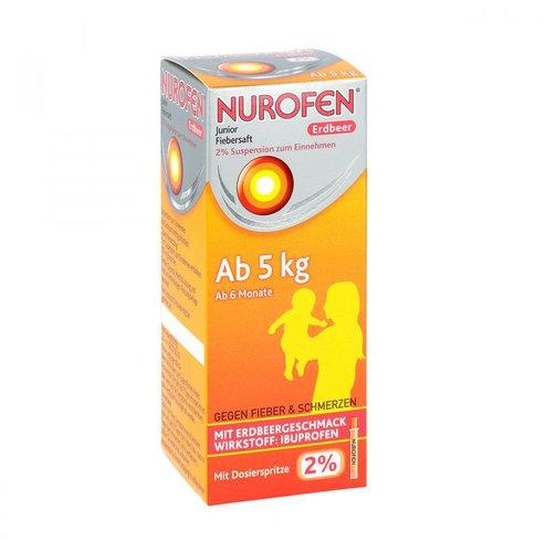 Nurofen Junior Fiebersaft Erdbeer 4 % Suspension (100 ml)